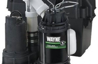 WAYNE WSS30V Battery Backup Combination Sump Pump